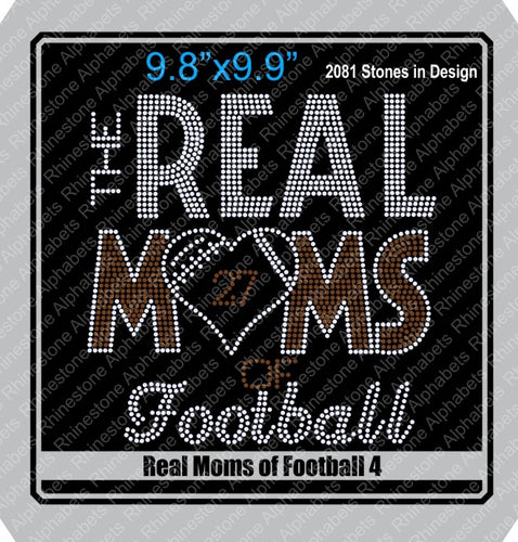Real Moms of Football 4 ,TTF Rhinestone Fonts & Rhinestone Designs