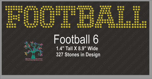 Football Word 6 ,TTF Rhinestone Fonts & Rhinestone Designs