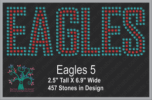Eagles Words 5 ,TTF Rhinestone Fonts & Rhinestone Designs