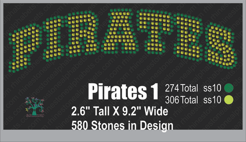 Pirates Word 1 ,TTF Rhinestone Fonts & Rhinestone Designs