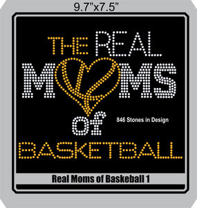 Real Moms of Baskeball 1 ,TTF Rhinestone Fonts & Rhinestone Designs