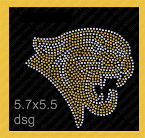 Panther Mascot for .dsg file ,TTF Rhinestone Fonts & Rhinestone Designs