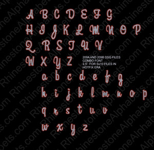 209a and 209b dsg files ,TTF Rhinestone Fonts & Rhinestone Designs