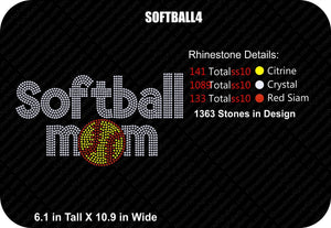 SOFTBALL 4 ,TTF Rhinestone Fonts & Rhinestone Designs