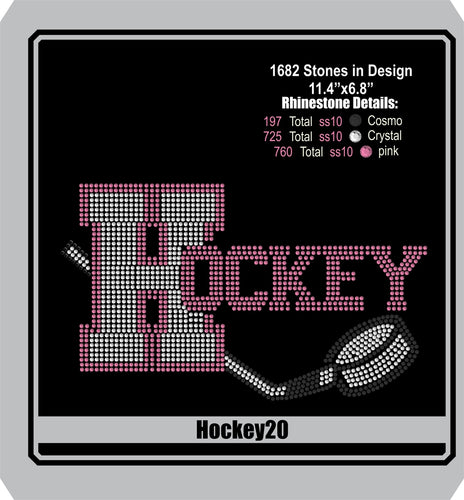 Hockey 20 ,TTF Rhinestone Fonts & Rhinestone Designs