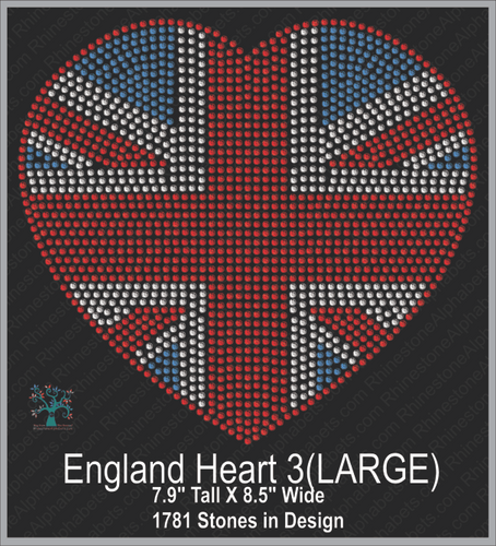 Great Britain: Flag 3 (large) ,TTF Rhinestone Fonts & Rhinestone Designs