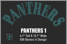 Panthers Word 1 ,TTF Rhinestone Fonts & Rhinestone Designs
