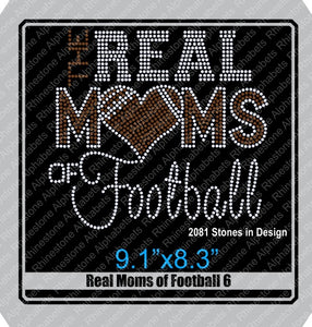Real Moms of Football 6 ,TTF Rhinestone Fonts & Rhinestone Designs