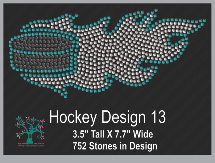 Hockey Design 13 ,TTF Rhinestone Fonts & Rhinestone Designs