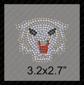 Tiny Wildcats1 Rhinestone TTF  Alphabets and Rhinestone Designs