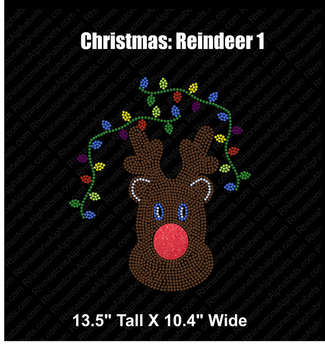 Christmas Reindeer 1...coming soon ,TTF Rhinestone Fonts & Rhinestone Designs