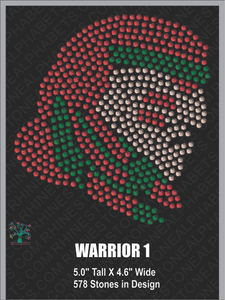 Warrior-Design 1 Rhinestone TTF  Alphabets and Rhinestone Designs