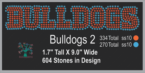 Bulldogs Word 2 ,TTF Rhinestone Fonts & Rhinestone Designs