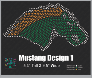 Mustangs Design1 ,TTF Rhinestone Fonts & Rhinestone Designs