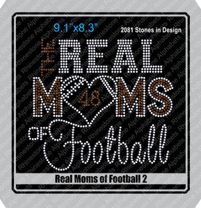 Real Moms of Football 2 ,TTF Rhinestone Fonts & Rhinestone Designs