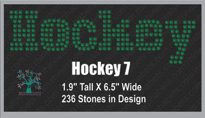 Hockey Word 7 ,TTF Rhinestone Fonts & Rhinestone Designs
