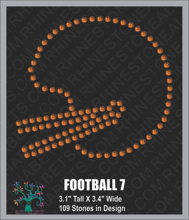 Football Design 7 ,TTF Rhinestone Fonts & Rhinestone Designs