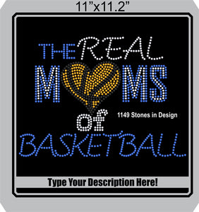 Real Moms of Baskeball 6 ,TTF Rhinestone Fonts & Rhinestone Designs