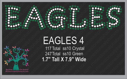Eagles Words 4 ,TTF Rhinestone Fonts & Rhinestone Designs