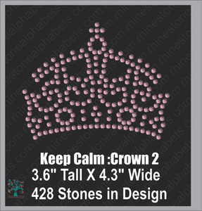 Keep Calm Crown 2 ,TTF Rhinestone Fonts & Rhinestone Designs