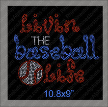 living the baseball life ,TTF Rhinestone Fonts & Rhinestone Designs