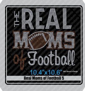 Real Moms of Football 5 ,TTF Rhinestone Fonts & Rhinestone Designs