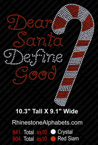 Santa Define Good ,TTF Rhinestone Fonts & Rhinestone Designs