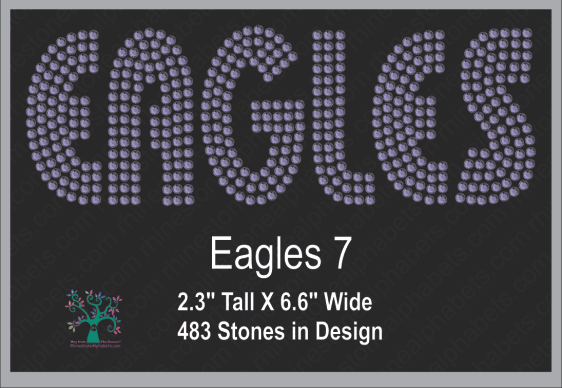 Eagles Words 7 ,TTF Rhinestone Fonts & Rhinestone Designs