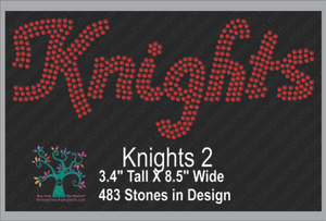 Kinghts 2 ,TTF Rhinestone Fonts & Rhinestone Designs