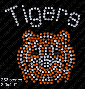 Tiny Tigers Rhinestone TTF  Alphabets and Rhinestone Designs
