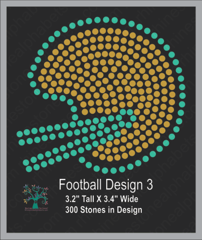 Football Design 3 ,TTF Rhinestone Fonts & Rhinestone Designs