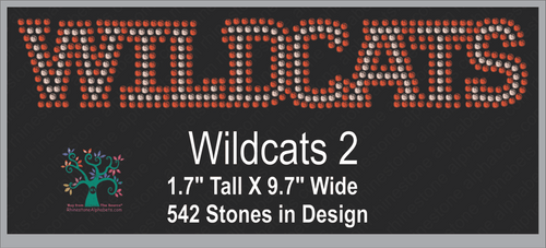 Wildcats Word 2 Rhinestone TTF  Alphabets and Rhinestone Designs