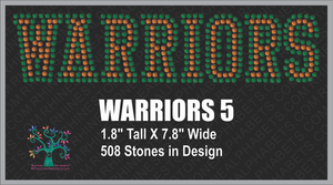 Warriors Word 5 Rhinestone TTF  Alphabets and Rhinestone Designs