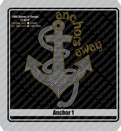 Anchor 1 ,TTF Rhinestone Fonts & Rhinestone Designs