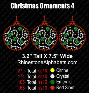 Christmas Ornament 4 ,TTF Rhinestone Fonts & Rhinestone Designs