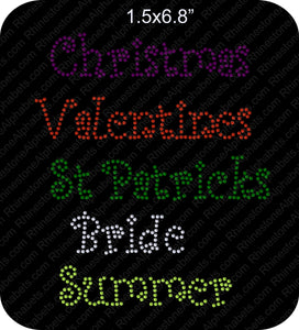 Font Pack 9 Download Only ,TTF Rhinestone Fonts & Rhinestone Designs