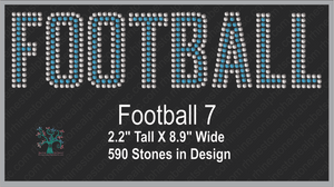 Football Word 7 ,TTF Rhinestone Fonts & Rhinestone Designs