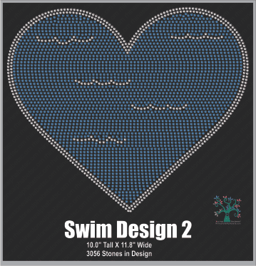 Swim Design 2 ,TTF Rhinestone Fonts & Rhinestone Designs