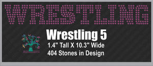 WrestlingWord 5 Rhinestone TTF  Alphabets and Rhinestone Designs