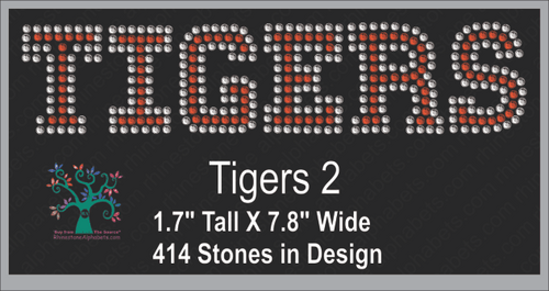 Tigers Word 2 ,TTF Rhinestone Fonts & Rhinestone Designs