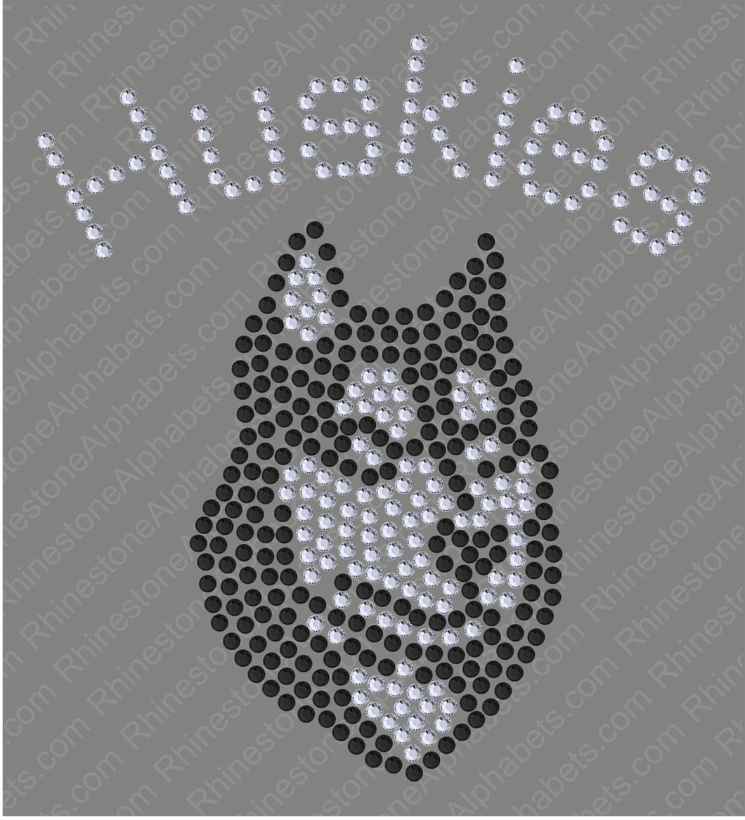 Tiny Huskies ,TTF Rhinestone Fonts & Rhinestone Designs