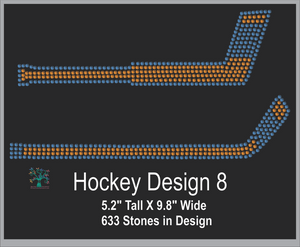 Hockey Design 8 ,TTF Rhinestone Fonts & Rhinestone Designs