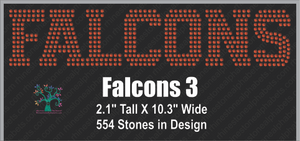 Falcons Word 3 ,TTF Rhinestone Fonts & Rhinestone Designs
