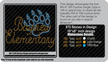 RA-S 159 Cursive Single ,TTF Rhinestone Fonts & Rhinestone Designs