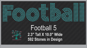 Football Word 5 ,TTF Rhinestone Fonts & Rhinestone Designs