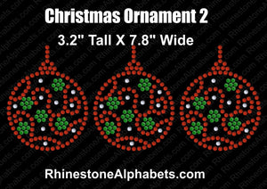 Christmas Ornament 2 ,TTF Rhinestone Fonts & Rhinestone Designs