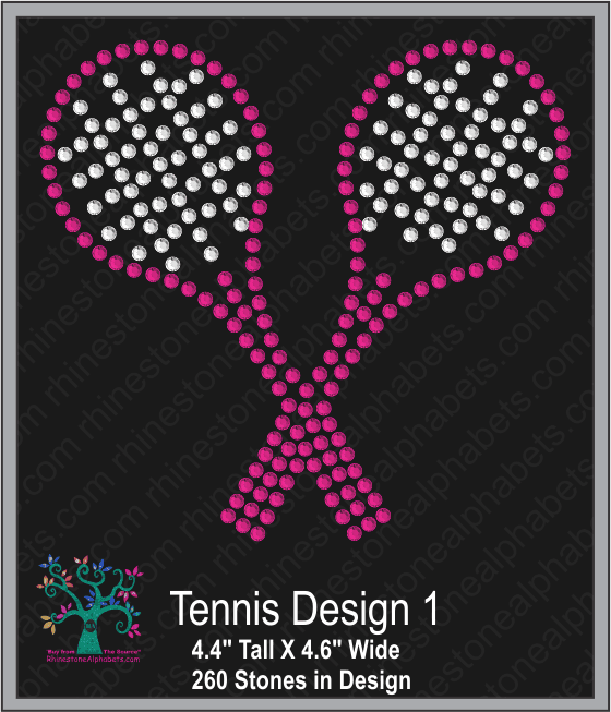 Tennis Design 1 ,TTF Rhinestone Fonts & Rhinestone Designs