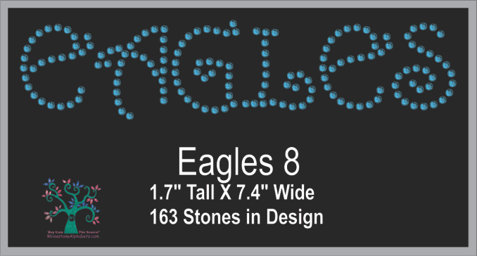 Eagles Words 8 ,TTF Rhinestone Fonts & Rhinestone Designs