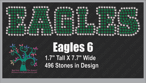 Eagles Words 6 ,TTF Rhinestone Fonts & Rhinestone Designs