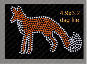 Fox 2 Mascot for .dsg file ,TTF Rhinestone Fonts & Rhinestone Designs